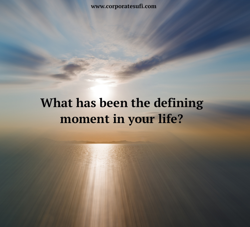 defining moment your life essay Defining moment paper defining moment paper this paper (up to 5 pages) will be an analysis of a defining moment in your life from the perspective of the fr.