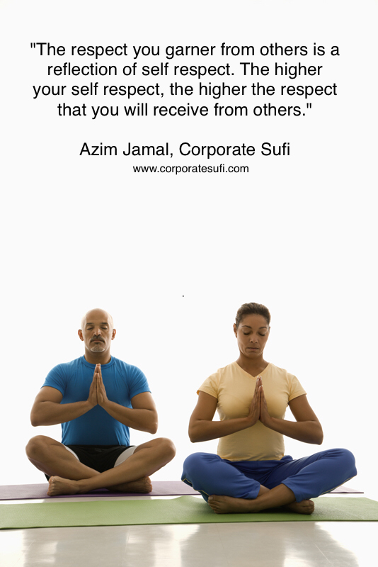 Mid adult multiethnic man and woman sitting in Namaste position on exercise mats with eyes closed and hands at heart center.